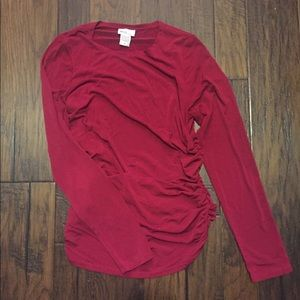 Red Mimi Maternity blouse in Small